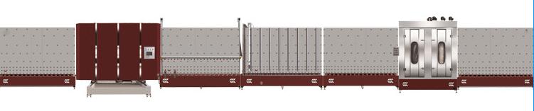 LB1600P立式板外自动合片中空玻璃生产线