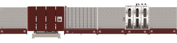 LB2200P立式板内合片中空玻璃生产线